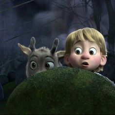 Frozen - Little Kristoff and baby Sven! So cute!