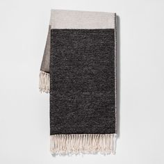 Add a layer of softness to your living space with the Colorblock Throw Blanket from Project 62™. Featuring a colorblock design and finished with fringed edges, this incredibly comfy throw blanket makes any room look welcoming while adding a subtle pop of style. The gorgeous throw blanket is designed with a woven pattern to keep you comfy and cozy on chilly days. Throw this colorblock fringe blanket over your bed, sofa or  armchair — its simple and clean design pairs well wi...
