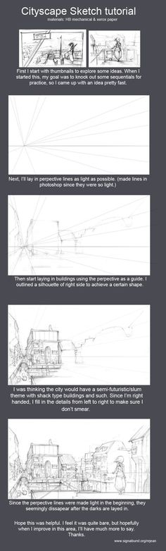 Cityscape Sketch tutorial by kasai on deviantART