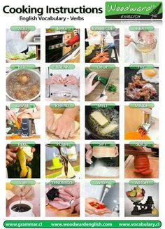 cooking instructions english vocab