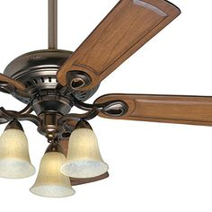 "52"" Bronze Patina Finish Ceiling Fan with Tea Stain Glass Light Kit Hunter http://www.amazon.com/dp/B00OBWXN4I/ref=cm_sw_r_pi_dp_QZlDwb1KP4XPE"