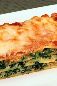 Simple Spinach Lasagna ~ incredibly simple and delicious!