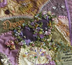 Leslie has added additional embellishments to the first of her two beautiful blocks.
