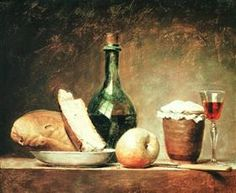 Still Life with Round Bottle - Anne Vallayer-Coster