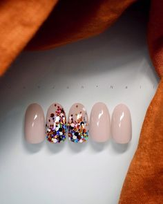 "Awesome ""gel nail designs"" info is available on our internet site. Have a look and you wont be sorry you did. Glitter Gel Nails, Shellac Nails, Love Nails, Fun Nails, Simple Gel Nails, Confetti Nails, Plain Nails, Unicorn Nails, Gel Nail Designs"