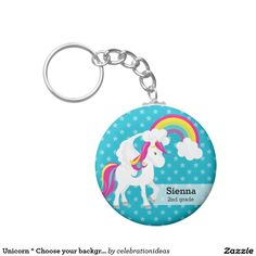 Sold #Unicorn #Keychain #kids #fantasy #horse Available in different products. Check more at www.zazzle.com/celebrationideas