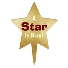 """A Star Is Born"" 2 Star Cake Topper #cake #caketopper"
