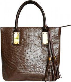 Genuine Ostrich Leather Bag (ostrich body skin) - http://handbagscouture.net/brands/goldia/genuine-ostrich-leather-bag-ostrich-body-skin-13/