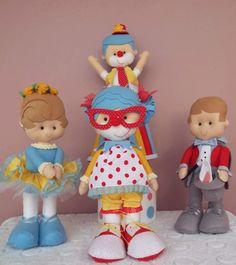 Kit Circo vintage -tradiconal  festa circo, bonecos de feltro, tema circo unissex, festa circo vintage