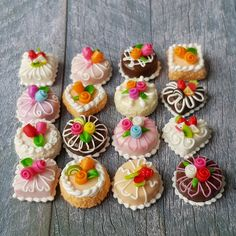 16x Mini Rose Cake Mix Lot Dollhouse Miniature Food Bakery Sweet Tiny Wholesale Price