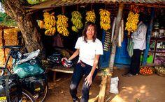 Kleine Rastpause mit frischen Bananen