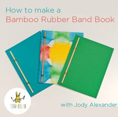 How to Make a Rubber Band Book. This is an easy, cool-looking bookmaking project for kids ages 5 and up. These could be used for sketchbooks, gifts, or writing practice. The possibilities are endless.