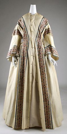 Dressing gown Date: 1845–50 Culture: American Medium: [no medium available]