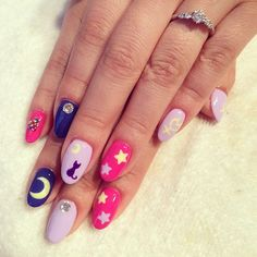 nails: SailorMoon* #nail #nails #nailart #ネイル #ネイルアート #SailorMoon #美少女戦士セーラームーン#セーラームーンネイル#月に代わってお仕置きよ