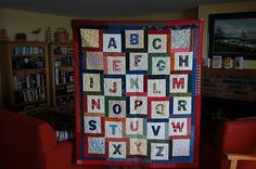 ABC challenge:  I organized a block exchange at the Newport guild. Fused letters and an extra square of your focus fabric.  We ended up with all kinds of cool alphabet quilts.