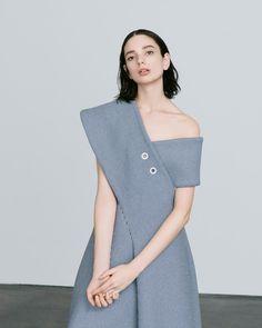 Contemporary Fashion - chic asymmetric dress; elegant tailoring // Andrea Jiapli