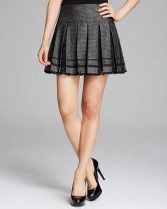 DIANE von FURSTENBERG Skirt - Ricarda Lace Pleated  Bloomingdale's