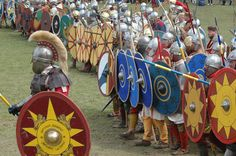battle line....late roman re-enactors
