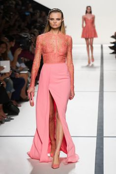 Elie Saab Spring 2014: A Garden Party For the Stars: #pink