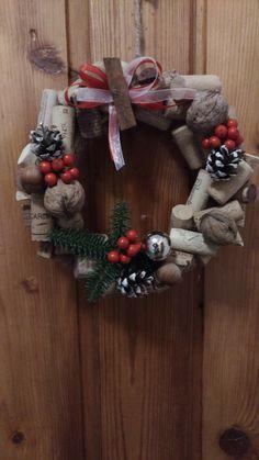My Christmas Door Wreath 2017 from cork