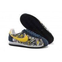 the best attitude e0ac8 bd8a2 Inimitable Nike Classic Cortez Nylon Homme Profond Bleu Jaune Running  Chaussures-20