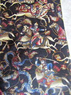 Metropolitan Museum Art Men's Necktie Black Tie Mongol Invasion Made in Canada #MetropolitanMuseumofArt #Tie