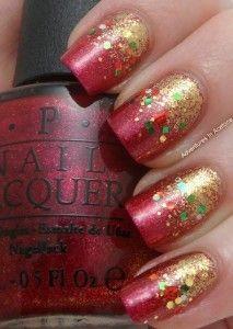 Decoración de uñas para navidad.