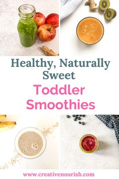 Healthy toddler smoothies - perfect snacks for the winter season to boost their immune system or feed them when they are sick. Toddler Smoothie Recipes, Toddler Smoothies, Healthy Smoothies, Baby Food Recipes, Toddler Recipes, Snack Recipes, Dinner Recipes, Budget Recipes, Healthy Drinks For Kids