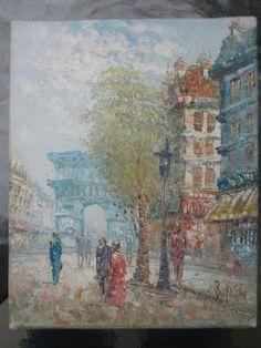Painting by Caroline Burnett  PARIS Street Scene  by Esoterique50, $28.00