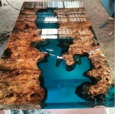 Mazel epoxy resin table with mazel epoxy furniture,live edge,epoxy river table,slab single table,res - Wood working - Holz Resin Furniture, Living Furniture, Home Furniture, Furniture Ideas, Wood Resin Table, Wooden Tables, Diy Resin Table Tops, Epoxy Table Top, Slab Table