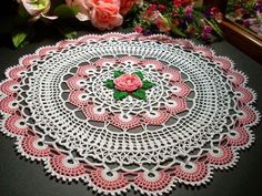 Artesanato com amor...by Lu Guimarães: Linda toalha de mesa em crochê