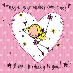 May All Your Wishes Come True Birthday Card Juicy Lucy