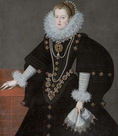"""Margaret of Austria, Queen of Spain and Portugal"" Renaissance Mode, Renaissance Fashion, Renaissance Clothing, 16th Century Fashion, 17th Century, Royal Monarchy, European Dress, Court Dresses, Spanish Fashion"