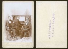 RARE-THREE-BLIND-MUSICIANS-CABINET-CARD