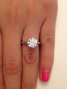 2 00 Ct Round Cut D VS1 Diamond Solitaire Engagement Ring 14k White Gold / www.himisspuff.co... #diamondsolitaire