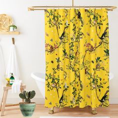 Fun Home = Happy Person ! Make your home an exciting place with this Monkey World shower curtain! #fifikoussout #Redbubble #ShowerCurtain #yellow #interiordesign #jungle #monkey #illustration Monkey World, Yellow Shower Curtains, Home Board, Traditional House, Monkey Illustration, Make It Yourself, Interior Design, Happy, Fun