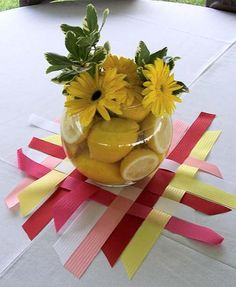 ribbon centerpiece