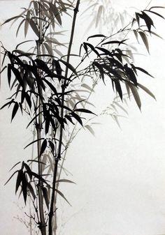 Zen Painting, Japanese Painting, Chinese Painting, Chinese Art, Bamboo Tattoo, Bamboo Art, Korean Art, Traditional Paintings, Japan Art
