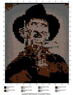 Nightmare on Elm Street Freddy Krueger c2c graphgan pattern crochet