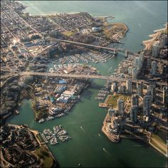 Granville Island, Vancouver, British Columbia Spectacular Examples Of Aerial Photography