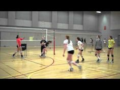 Volleyball Defense Drill - Stop and Freeze (ignore the dress/or lack there of)