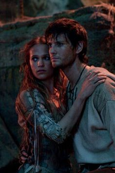 The Seventh Son, this is such a sweet photo ♡ Alicia Vikander and Ben Barnes