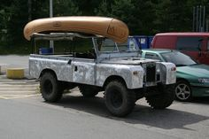 LAND ROVER SERIES - This is a series that has had it's paint stripped down to the aluminum exterior.