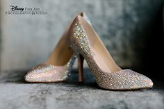 If the shoe fits… #Disney #wedding #shoes #sparkle