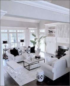 When we mention white room decor we have plenty on our mind. This edition of Shop The Look is all about how you can and will achieve a white room design in time Home And Living, House Interior, Luxury Living Room, White Living Room Decor, Apartment Decor, Living Room Decor On A Budget, White Room Decor, Elegant Living Room, Elegant Living