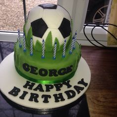 First attempt at a football cake....