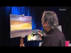 Le magicien des couleurs Deny Cloutier nous démontre qu'il est possible de peindre une toile même si l'on a que du noir et du blanc