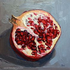 Image result for open pomegranate painting