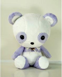 Cute Bellzi Purple w/ White Contrast Panda Plushie Doll - Pandi