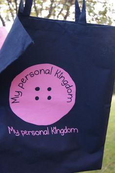 Bolsa de tela azul de My personal kingdom